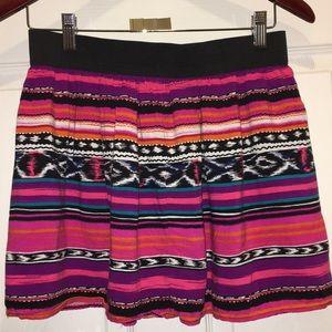 XXI Multicolored Mini Skirt Size L